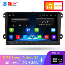 EKIY 9'' IPS  Android 8.1 Car Radio For VW Car GPS Navigation Volkswagen SKODA GOLF 5 Golf 6 POLO PASSAT JETTA TIGUAN Dvd Player yessun car android navigation system for volkswagen vw golf mk7 golf wagon radio stereo cd dvd player gps navi multimedia