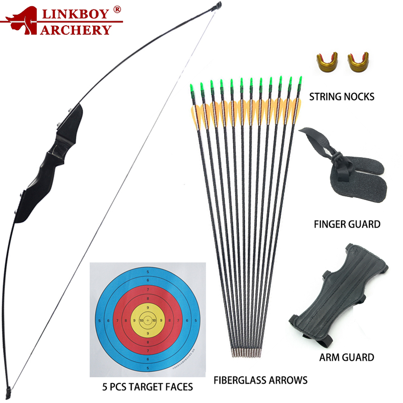 Archery Recurve Takedown Bow And Arrow Set 40lbs For Youth Adult Beginners Training Practice Wooden Straight Bow Longbow Kit