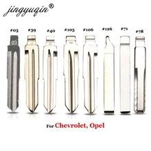 jingyuqin 15p 15# 39# For Chevrolet Spark Cruze Lova Buick Opel HU43 HU100 Remote Car flip Key Blade Blank 03 40 71 105 106 126