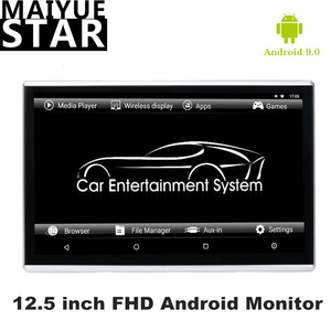 Maiyue star 12.5 Inch Android 9.0 Car Headrest Monitor RAM 2GB HD 1080P Touch Screen WIFI / HDMI / USB / TF / BTMP5 Video Player(China)