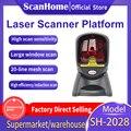 ScanHome платформа 20 линия автоматический всенаправленный лазерный сканер штрих-кода для POS супермаркет системы SH-2028