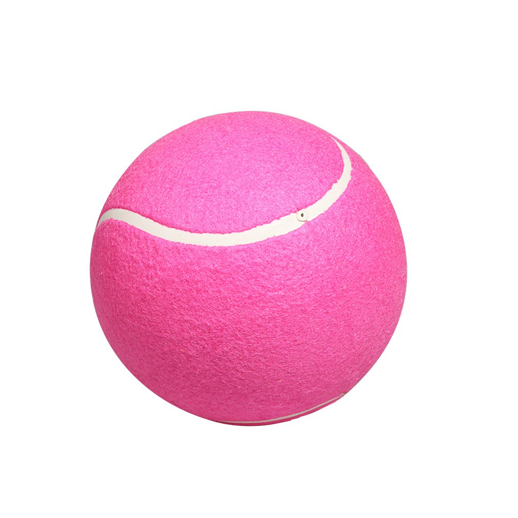 8 Inch 9.5 Inch Inflatable Tennis Ball Large Signature Tennis Rose Red Children Flannel Tennis Ball