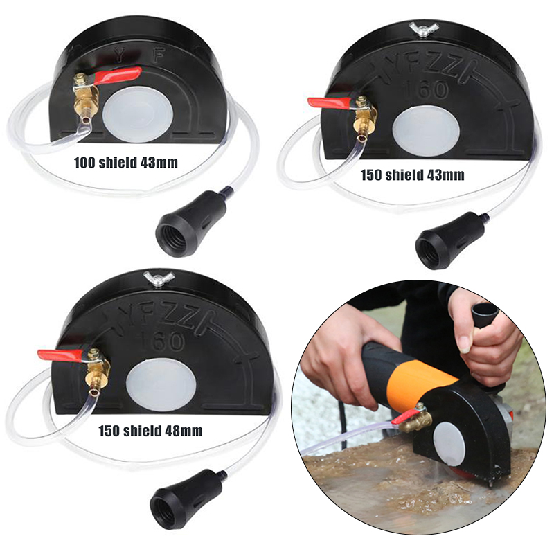 Protector Cover Angle Grinder Guard Shield Water Nozzle Pipe Kit Cutting Machine Base Safety Cover For 100 150 Angle Grinder