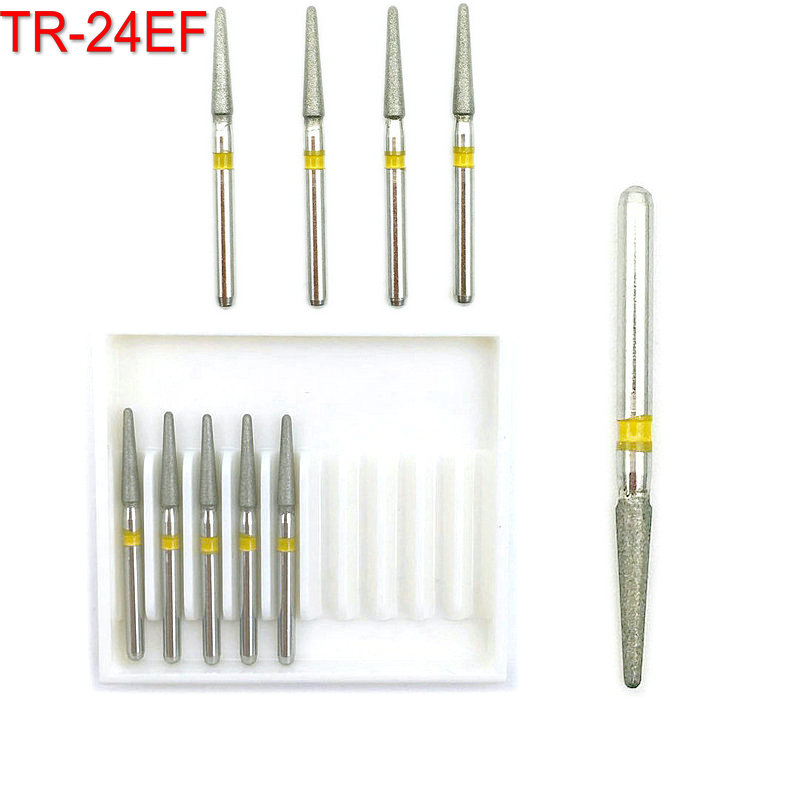 10pcs/box Dental Diamond Burs High Speed Dentistry Burs For Teeth Whitening FG 1.6mm TR-24EF