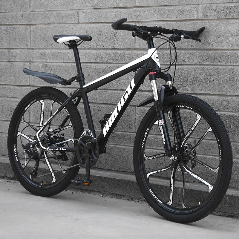 Mountain Bike 24/26 Inch Speed Ten Knife Wheel Off-road Double Disc Brake Oil Brake Shock Absorber Road Racing Student Adult