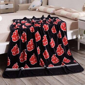 Anime Naruto Akatsuki manta sofá cama suave cálido de felpa Coral polar manta alfombra Uchiha itmachi manta alfombra