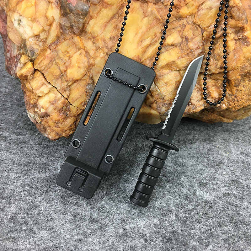 Mini Portable Outdoor Pocket Hunting Blade Stainless Steel Tool Chain Necklace