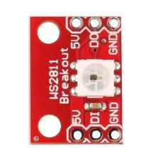 цена на Hot WS2812 1-Bit 5V 5050 RGB LED Lamp Panel Module Full Color For Arduino Wholesale