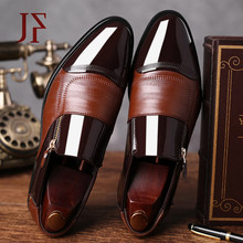 JF Fashion Business Dress Men Shoes 2019 New Classic Leather MenS Suits Slip On Oxfords