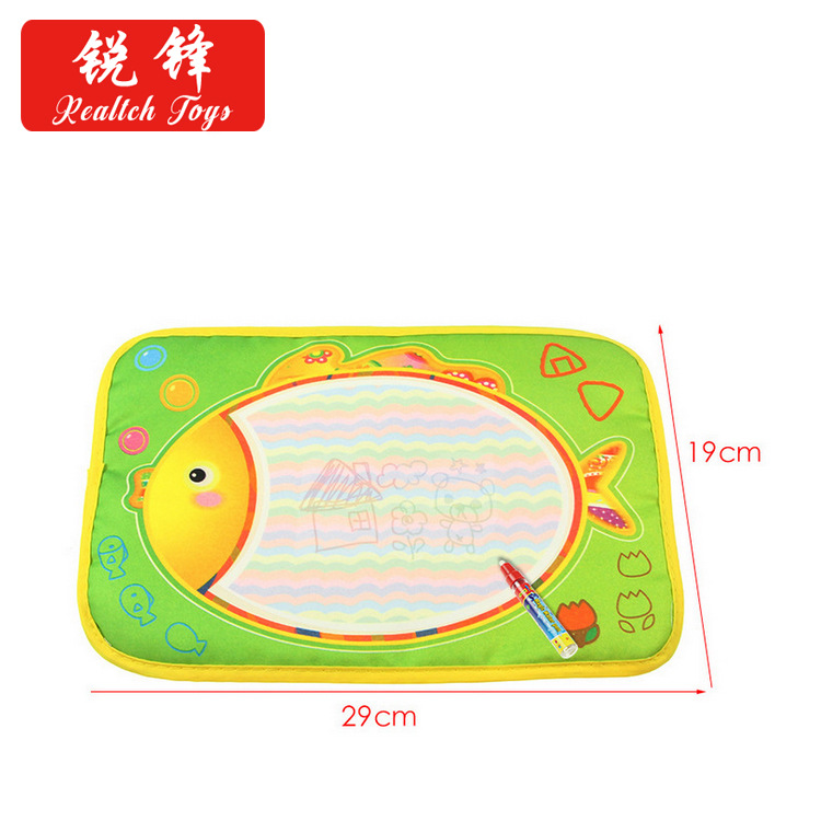 Rf1365 29X19 Cm Four Colors Magic Water Magic Canvas Cartoon Fish Water Canvas Infants Teaching Aids Large