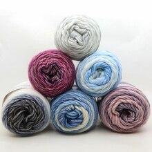 Merino-Yarn Melange Knitting Blanket Sweater Natural Worsted Lot for Crochet 100g/pc