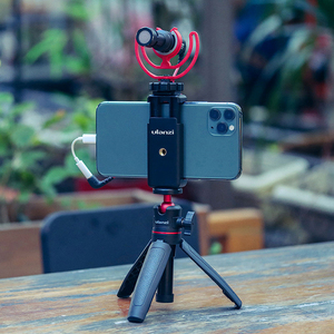 Image 5 - Ulanzi ST 07 Vlog Phone Mount with Cold Shoe for Microphone LED Light Universal 1/4 Screw Phone Mount