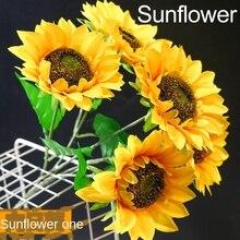 Simulation sunflower sun flower wedding home living room decoration fake flower shooting props