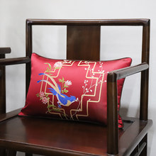 Factory direct sale silk pillow case cushions embroidery cushion cover for home decor(China)