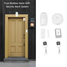 TUYA беспроводная домашняя GSM система охранной сигнализации приложение управление беспроводной 433 сигнализация набор мобильное приложение дистанционное управление в любое время