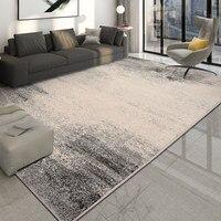 北欧グレーリビングルーム厚い寝室の敷物現代コールドデザインフロアマットホーム装飾ソファコーヒーテーブルの敷物とカーペット