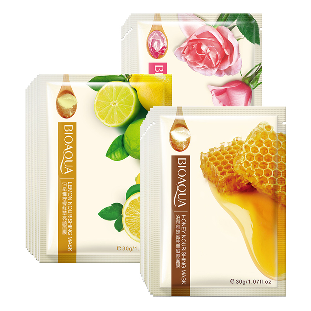 Hydrating Mask Wrapped Lemon Facial-Sheet Face-Skin-Care Whitening Honey Oil-Control