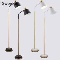 Modern Iron Gold Floor Lamps Led Standing Lamp Stand Light for Bedroom Living Room Study Home Decor Lighting Fixtures Luminaire