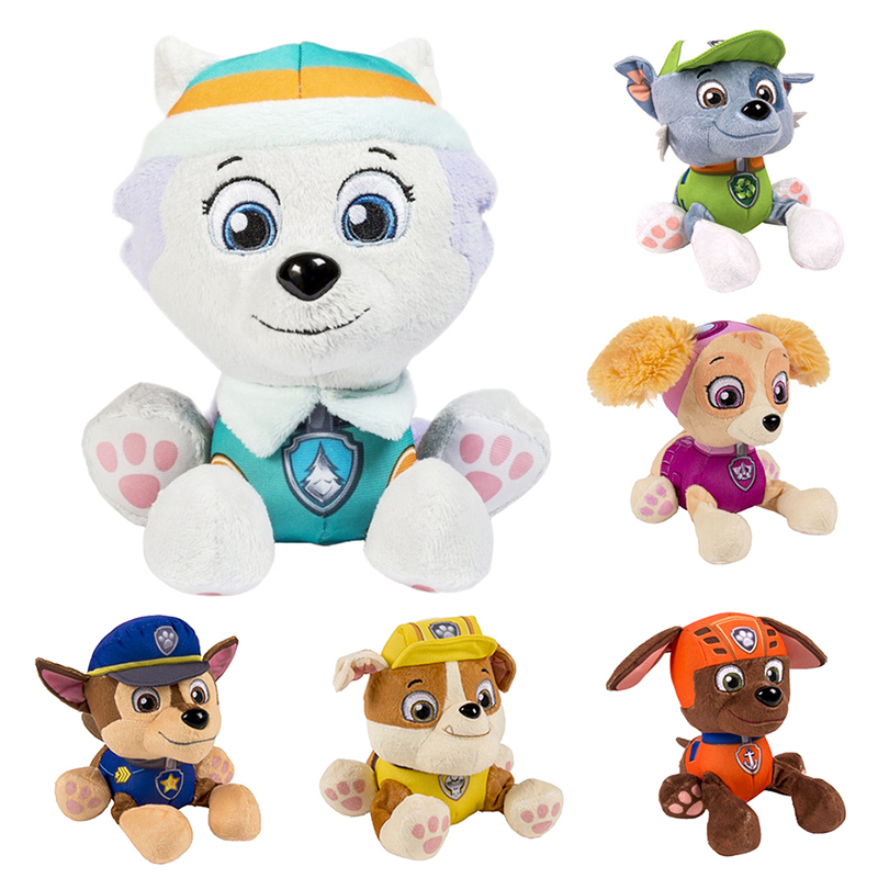12-20 Cm Paw Patrol Skye Everest Tracker Robo-Dog Dog Plush Doll Anime Kids Toys Action Figure Plush Doll Model Christmas Gift