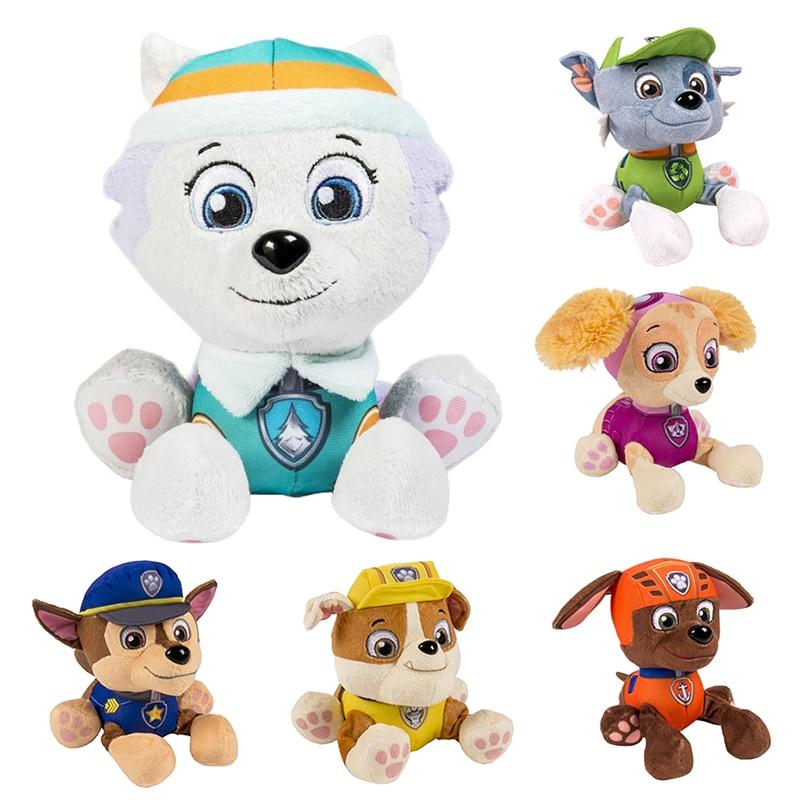 12-20 Cm Paw Patrol Skye Everest Tracker Robo-Dog Dog Plush Doll Anime Kids Toys Action Figure Plush Doll Model Christmas Gift