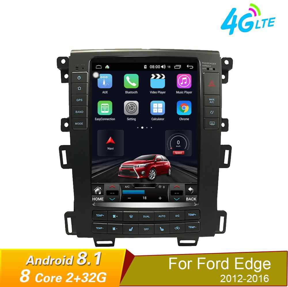 Quad Core Android 8.1 Auto Gps Navigatie Stereo Radio Voor Ford Edge 2011 2012 2013 2014 Taurus Wifi Mirrorlink Een/C Bluetooth