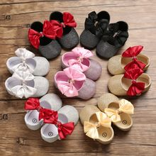 Baby Super Big Bowknot First Walkers Baby Girl Moccasins Moccs Shoes Bow Cute Soft Soled Non-slip Footwear Crib Princess Shoes(China)