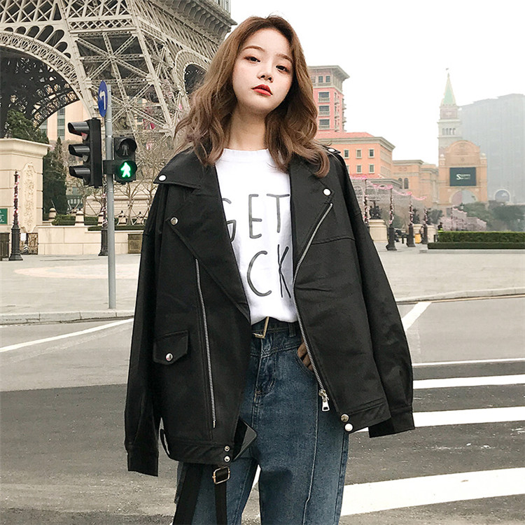 Oversized Coat Women Faux Leather Jacket