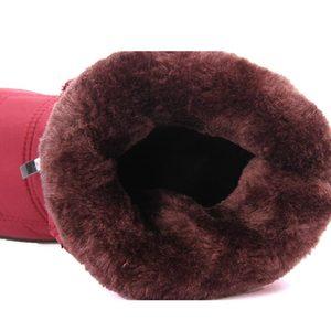Image 5 - Wasserdichte unten stiefeletten frauen zipper warme schnee stiefel schuhe frau warme pelz botas weibliche schuhe 35 42 frauen winter stiefel