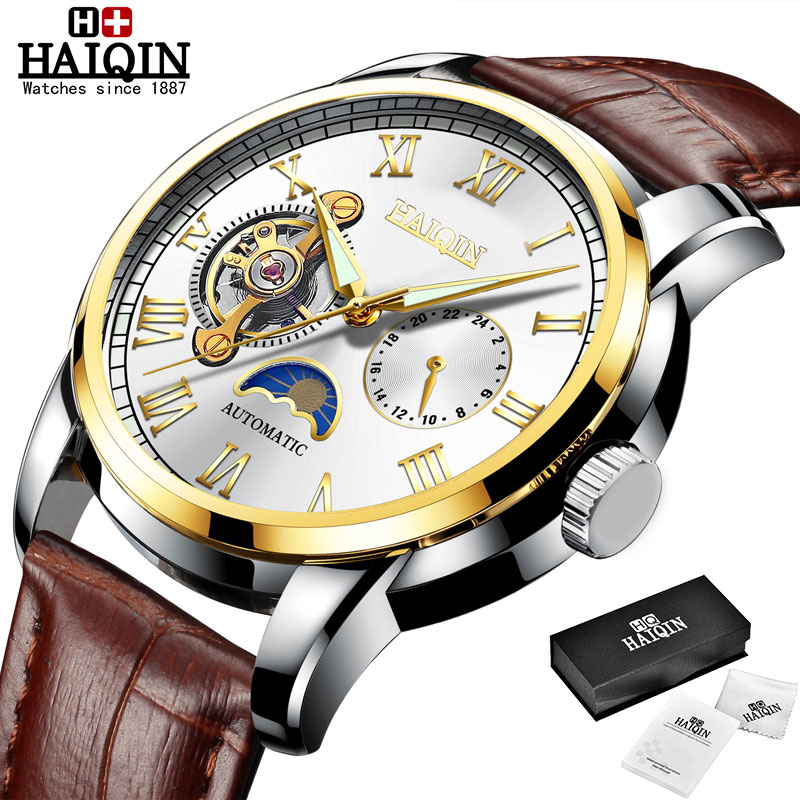 HAIQIN Mechanical watches mens automatic wrist watch for mens watches top brand luxury watch men Tourbillon relojes hombre 2020 15