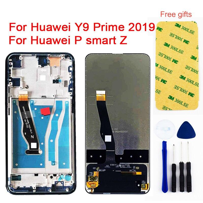 Pour Huawei Y9 Prime 2019 écran tactile d'affichage à cristaux liquides pour Huawei P smart Z STK-LX1 numériseur capteur assemblée LCD remplacement