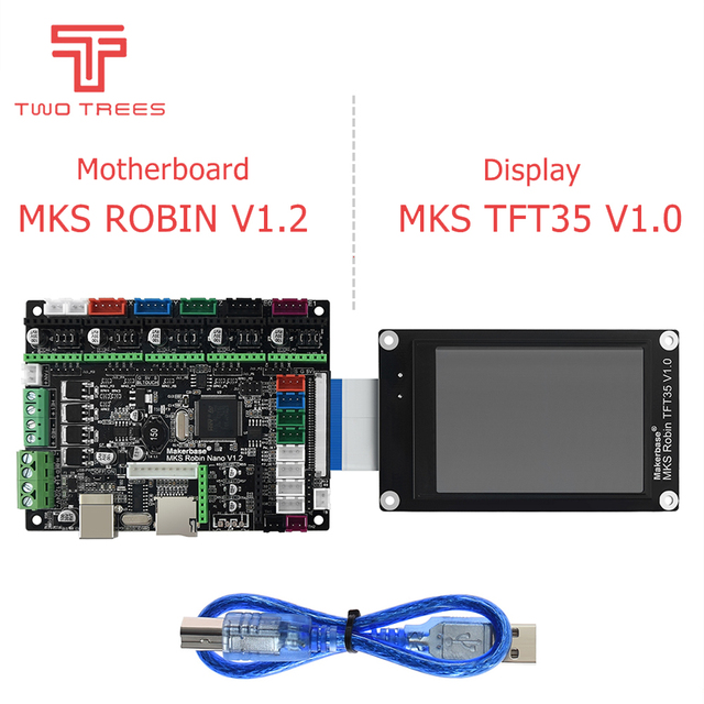 3D printer STM32 MKS Robin Nano board V1.2 Hardware open source Marlin2.0 Support with 3.5 inch touch screen sapphire pro bluer