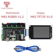 Imprimante 3D STM32 MKS Robin Nano board V1.2 matériel open source Marlin2.0 prise en charge avec écran tactile 3.5 pouces saphir pro bluer