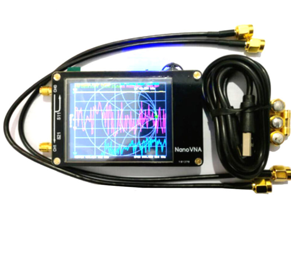NanoVNA 2.8 นิ้ว LCD HF VHF UHF UV Vector Network Analyzer 50 KHz-300 MHz เครื่องวิเคราะห์เสาอากาศแบตเตอรี่ I4-001