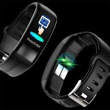 Смарт-часы P11 ECG + PPG, фитнес-трекер, шагомер, измерение артериального давления, для IOS и Android