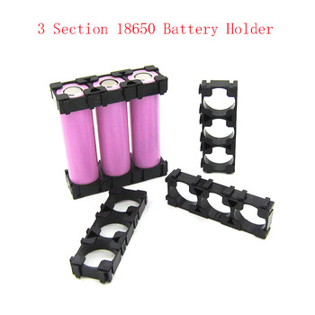 10 Pcs 3 Sections 18650 Battery Spacer Radiating Holder Bracket Electric Car Bike Toy Battery Holder image