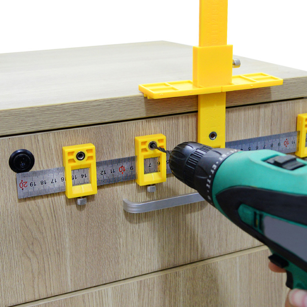 Detachable Joiner Tool Drill Guide Locator Jig Center Hole Opener Sleeve Cabinet Hardware Locator Wood Drilling Woodworking Tool