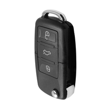 3-кнопочный корпус для автомобильного ключа ПВХ черный брелок в виде ракушки кнопки флип чехол для дистанционного ключа от машины крышка практичные подарки 37*22 мм