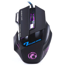 HIPERDEAL 3200DPI Gaming Mouse LED Optical 7D Buttons USB Wired Gaming 5 Million Game Mouse For PC Laptop Game Computer(China)