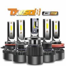 цены на TXVSO8 2PCS Car Headlight Bulbs H1 H7 9005/HB3 9006/HB4 H8/H9/H11 9012 H4-H/L CSP LED Chips 6000K White 100W/Set Headlamp Lights в интернет-магазинах