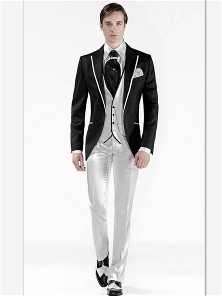 New Classic Men's Suit Smolking Noivo Terno Slim Fit Easculino Evening Suits For Men Groom Tuxedos Prom Wedding Best Man Tuxedos