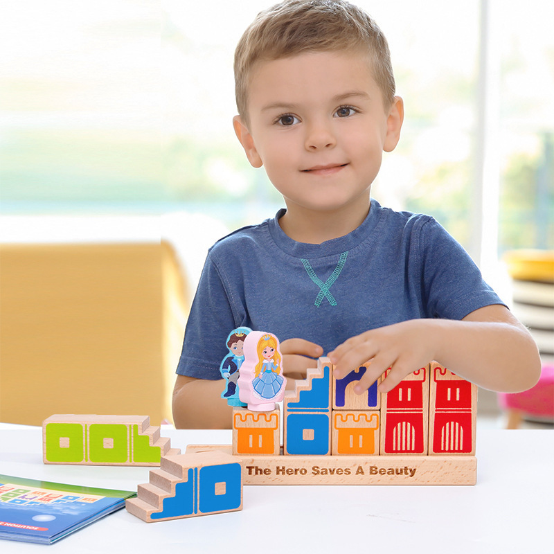 48 Challenge With Solution Wooden Challenge Toys Building Blocks Family Games Toys For Children Logical Thinking Jouet Enfant