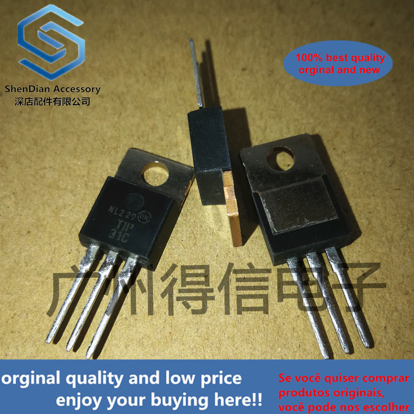 10pcs 100% Orginal TIP31C TO-220 TECHNICAL SPECIFICATIONS OF NPN EPITAXIAL PLANAR TRANSISTOR Real Photo