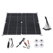35W Solar Panel 18V/5V 5 In1 Single USB Solar Photovoltaic Panel With Car Charger For Outdoor Camping Emergency Light 2017 newest k6 business bluetooth earphone headphones stereo wireless handsfree car driver bluetooth headset with storage box