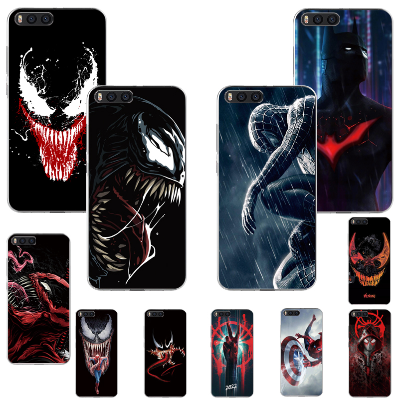 Soft Case For Redmi K20 K30 7A S2 Go Note4 4X Note6 7 7Pro 5Pro 5PLUS Marvel Movie Hero Spider Man Venom Batman Silicone Cover
