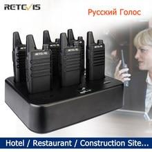 Mini Handy Walkie Talkie 6 pcs Retevis RT622 PMR Radio RT22 Walkie-talkies FRS Two Way Radio Portable Radio for Hotel Restaurant