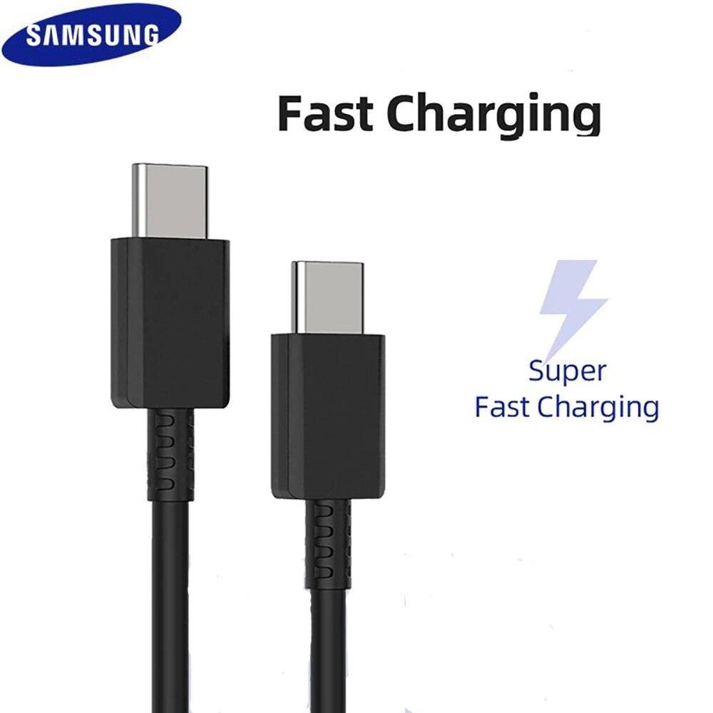 Оригинал, Samsung, S21 S20 5G 25w кабель с супер-быстрой зарядки на борту самолета Type C-Type C Pd PPS Быстрая зарядка для телефона Samsung Galaxy Note 20 Ультра 10