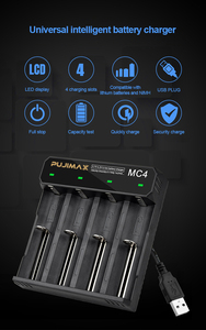 Image 3 - PHOMAX 4 Slot 18650 MC4 LED Smart Display Battery fast charging 17650 18700 14500 26500 IMR/Li Ion Rechargeable Battery Charger