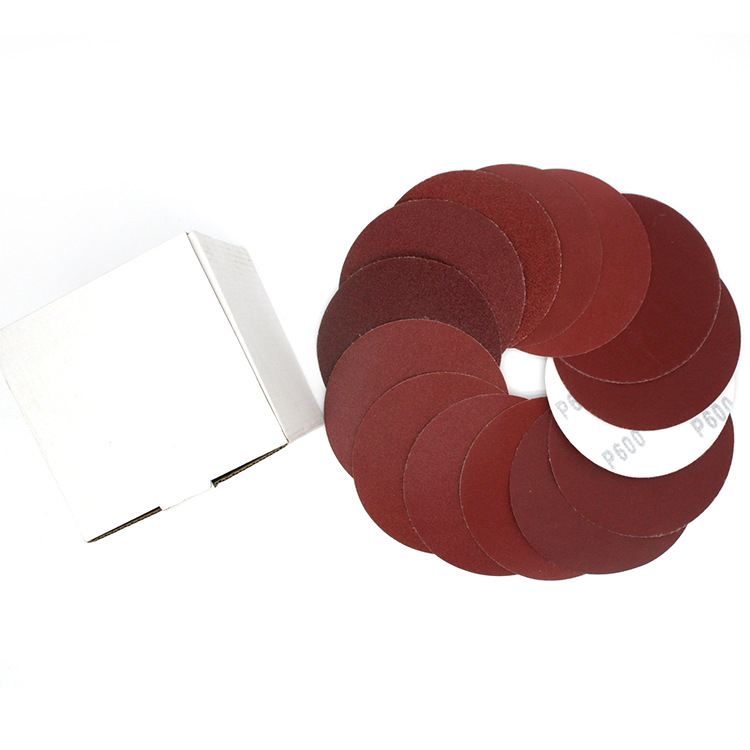 4-Inch Redsand Zhi 100 Size Flocking Sandpaper Pieces Napper Disc Sander Pneumatic Grinder Only Bei Rong Pian