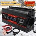 Auto Solar DC 12V/24V 1500W/2000W/2600W LCD display EU buchse modifizierte Sinus Welle Adapter dual 3,1 EINE USB Power inverter