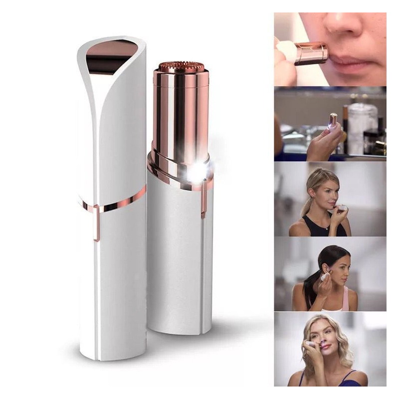 Female Mini Hair Removal Face , Body Facial Lipstick Shape Shaving Shaver Lady Hair Remover Painless Epilator